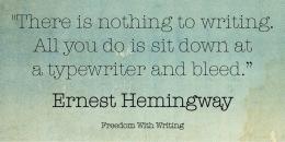bleed typwriter