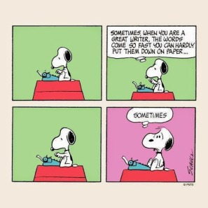 peanuts writers block